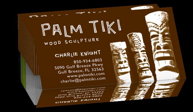 Palm Tiki Business Card