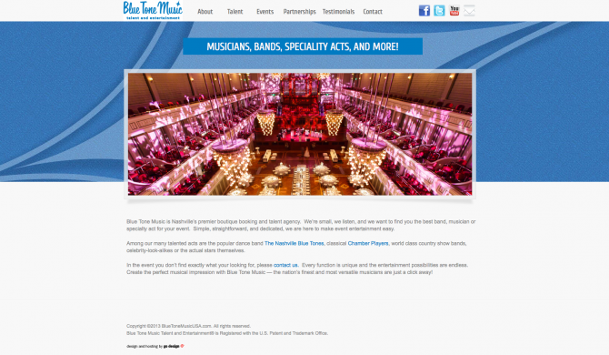 Bluetone Music Web Site