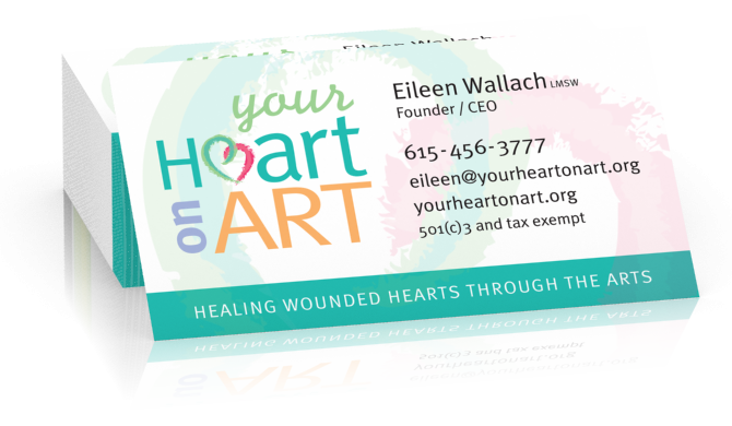 Your Heart On Art Business Cards