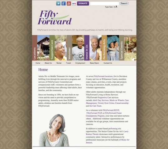 Fifty Forward Web Site