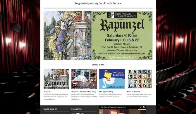 Olde Worlde Theatre Web Site