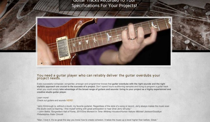 Pro Guitar Tracks Web Site