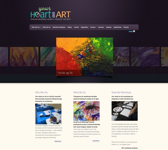 Your Heart On Art Web Site