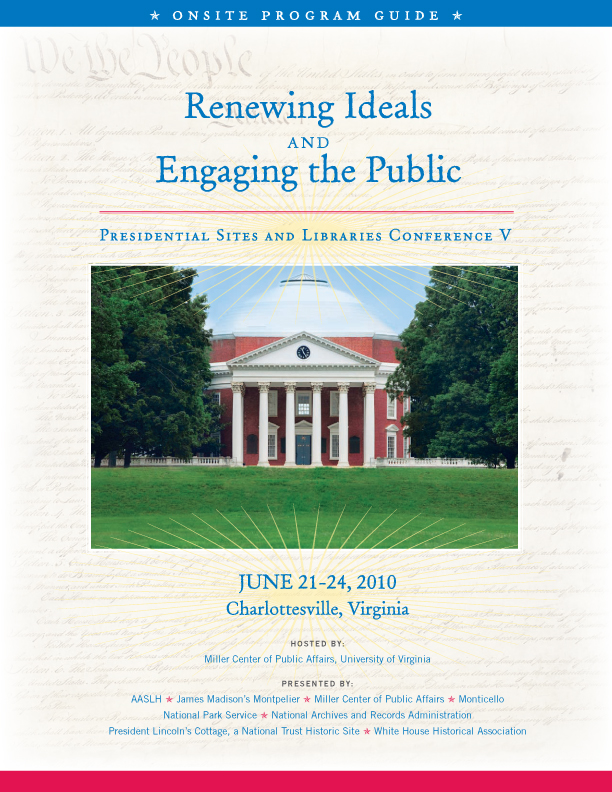 Presidential Sites & Libraries Conference Onsite Program